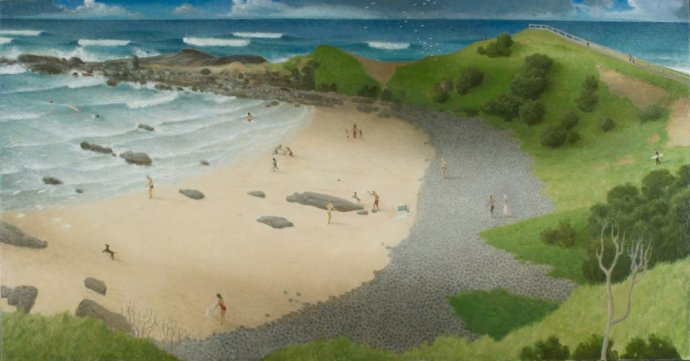 Robert Brownhall, Byron Bay Figures, 2010, 124 x 240 cm