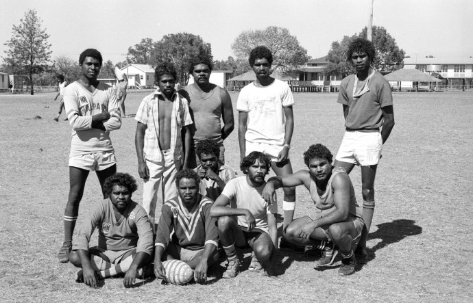 <p>Michael Aird&#160;<em style=&#34;line-height: 1.5em;&#34;>Woorabinda Football Team</em><span style=&#34;line-height: 1.5em;&#34;>&#160;1986</span></p>