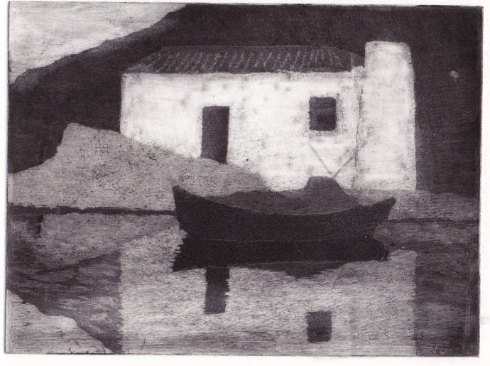 Joan Dannatt, Reflection, 2006, aquatint etching, 12 x 17 cm
