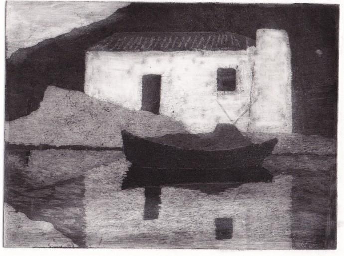 <p>Joan Dannatt,&#160;<em>Reflection</em>, 2006, aquatint etching, 12 x 17 cm</p>