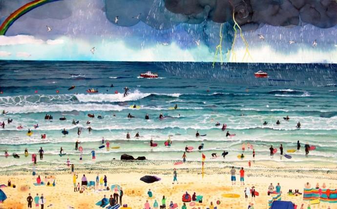 <div class=&#34;artist&#34;><strong>Emma Haworth</strong></div><div class=&#34;title&#34;><em>Summer Holidays</em>, 2016</div><div class=&#34;medium&#34;>Watercolour on paper</div><div class=&#34;dimensions&#34;>60 x 90 cm<br>23 5/8 x 35 3/8 in</div>