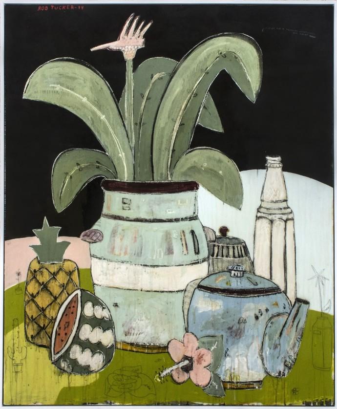 Rob Tucker, A Study For A Tropical Wheatgrass Tea Treat, 2014
