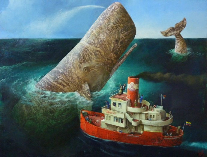 <div class=&#34;artist&#34;><strong>Sylvain Lefebvre</strong></div><div class=&#34;title&#34;><em>A Whale!</em>, 2016</div><div class=&#34;medium&#34;>mixed media</div><div class=&#34;dimensions&#34;>81 x 116 cm<br>31 7/8 x 45 5/8 in</div>