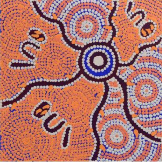 <div class=&#34;artist&#34;><strong>Letoya Nakamarra Curtis</strong></div><div class=&#34;title&#34;><em>Yarla Jukurrpa (Bush Potato Dreaming) - Cockatoo Creek</em>, 2016</div><div class=&#34;medium&#34;>synthetic polymer paint on canvas</div><div class=&#34;dimensions&#34;>30 x 30 cm<br>11 3/4 x 11 3/4 in</div>