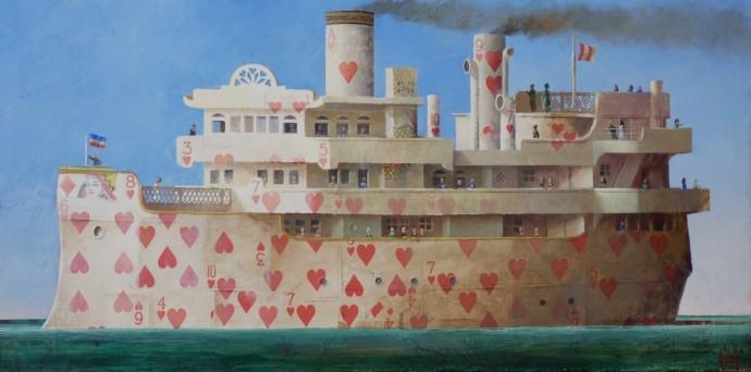 <div class=&#34;artist&#34;><strong>Sylvain Lefebvre</strong></div><div class=&#34;title&#34;><em>The Valentine Boat</em>, 2016</div><div class=&#34;medium&#34;>mixed media</div><div class=&#34;dimensions&#34;>40 x 80 cm<br>15 3/4 x 31 1/2 in</div>