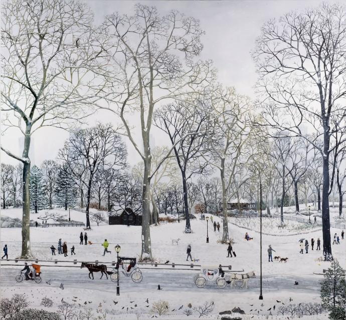 Emma Haworth, Central Park Snow, 2016