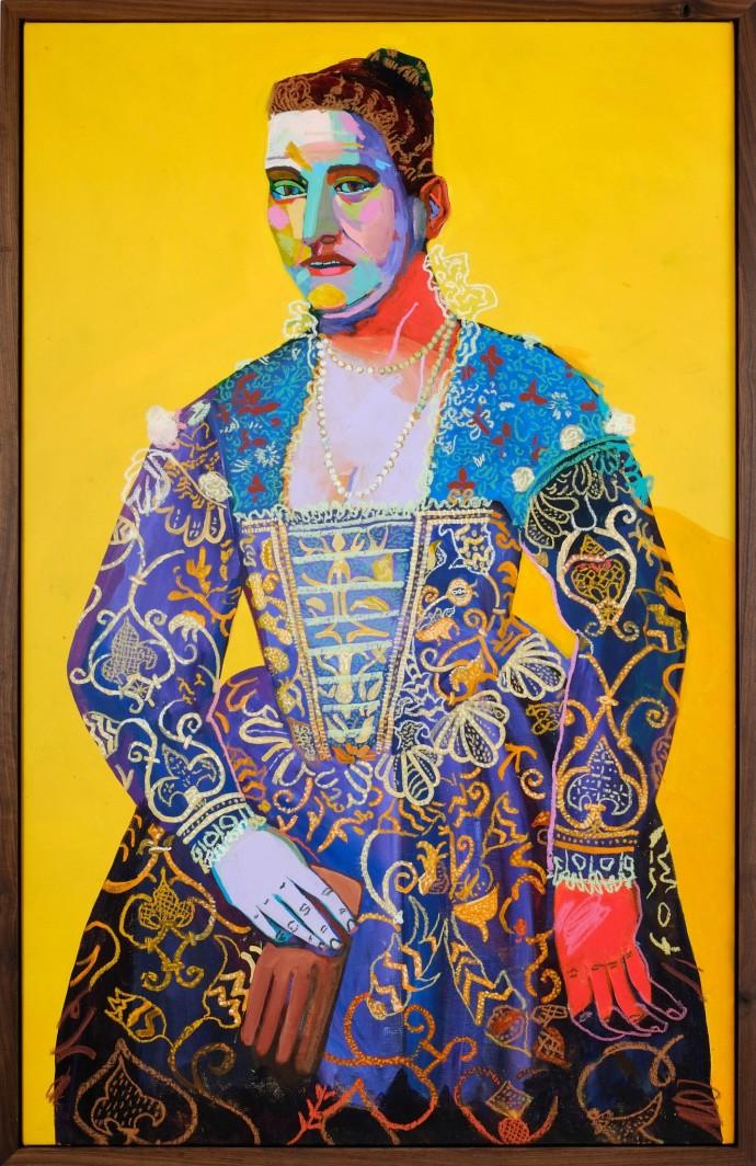 Andy Dixon, Yellow Portrait, 2014