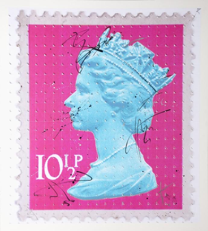 Piers Bourke, Lick My Rear (Pink/Blue), 2014