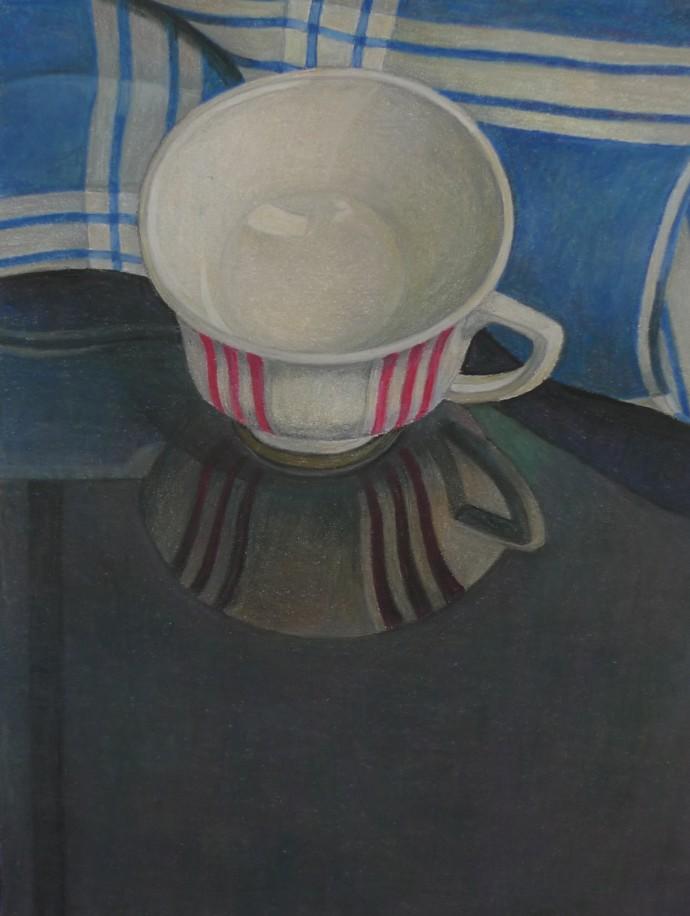 Aaron Kasmin, Striped Cup, 2015