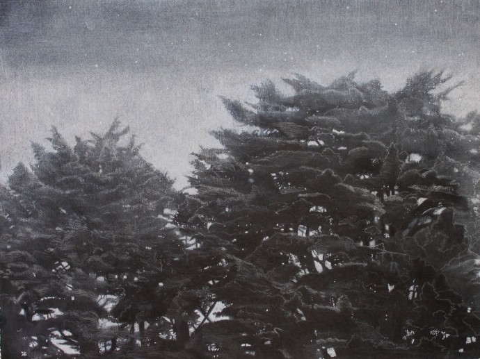 Sheila Clarkson, Trees at Dusk, 2014