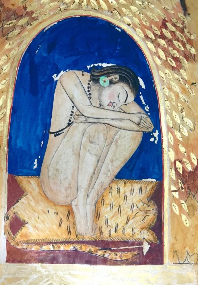 <div class=&#34;artist&#34;><strong>Katherine Virgils</strong></div><div class=&#34;title&#34;><em>Yogi Large No. 51</em>, 2016</div><div class=&#34;medium&#34;>mixed media with gold leaf</div><div class=&#34;dimensions&#34;>96.5 x 68.5 cm</div><div class=&#34;edition_details&#34;>edition of 10</div>