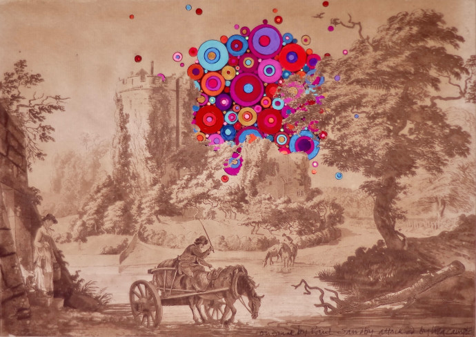 <div class=&#34;artist&#34;><strong>Liza Campbell</strong></div><div class=&#34;title&#34;><em>I Wish Someone Else Would Follow My Dreams</em>, 2017</div><div class=&#34;medium&#34;>ink, gouache and acrylic on engraved paper</div><div class=&#34;dimensions&#34;>33.5 x 42.5 cm<br>13 1/4 x 16 3/4 in</div>