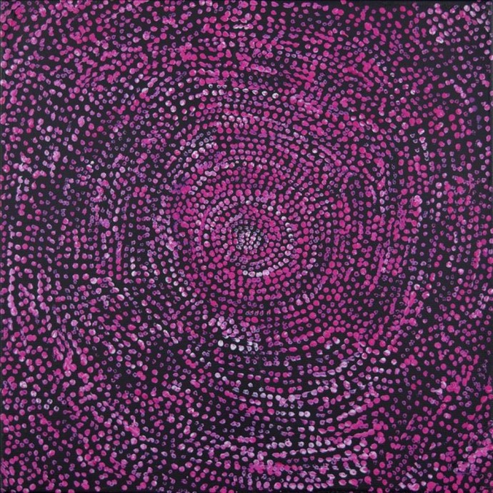 <div class=&#34;artist&#34;><strong>Sarah Nangala Flemming</strong></div><div class=&#34;title&#34;><em>Ngapa Jukurrpa (Water Dreaming)- Puyurru</em>, 2016</div><div class=&#34;medium&#34;>synthetic polymer paint on canvas</div><div class=&#34;dimensions&#34;>30 x 30 cm<br>11 3/4 x 11 3/4 in</div>