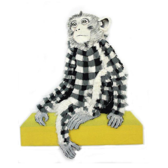 Karen Nicol, Small Gingham Monkey, 2013