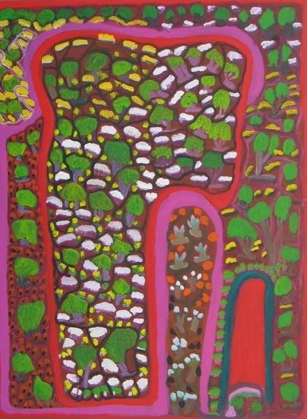 <div class=&#34;artist&#34;><strong>Jukuna Mona Chuguna</strong></div><div class=&#34;title&#34;><em>Wayampajarti</em>, 2005</div><div class=&#34;signed_and_dated&#34;>inscribed verso: Mangkaja Arts PC 103/05</div><div class=&#34;medium&#34;>synthetic polymer paint on canvas</div><div class=&#34;dimensions&#34;>120 x 90 cm<br>47 1/4 x 35 3/8 in</div>