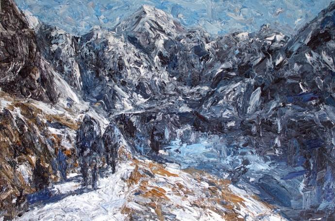 <div class=&#34;artist&#34;><strong>Holly Zandbergen</strong></div><div class=&#34;title&#34;><em>The Routeburn Track</em>, 2015</div><div class=&#34;medium&#34;>oil on canvas</div><div class=&#34;dimensions&#34;>100 x 150 cm<br>39 3/8 x 59 1/8 in</div>