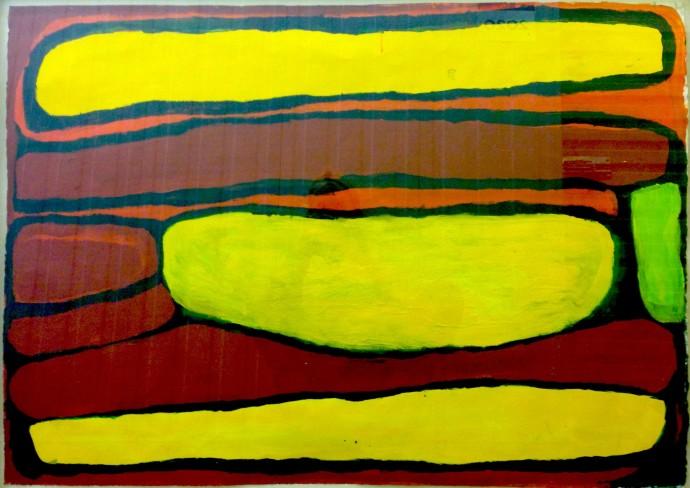 <div class=&#34;artist&#34;><strong>Wakartu Cory Surprise</strong></div> (1929-2011)<div class=&#34;title&#34;><em>Pirnti</em>, 1998</div><div class=&#34;medium&#34;>acrylic on velin paper</div><div class=&#34;dimensions&#34;>84 x 114 cm (framed)</div>