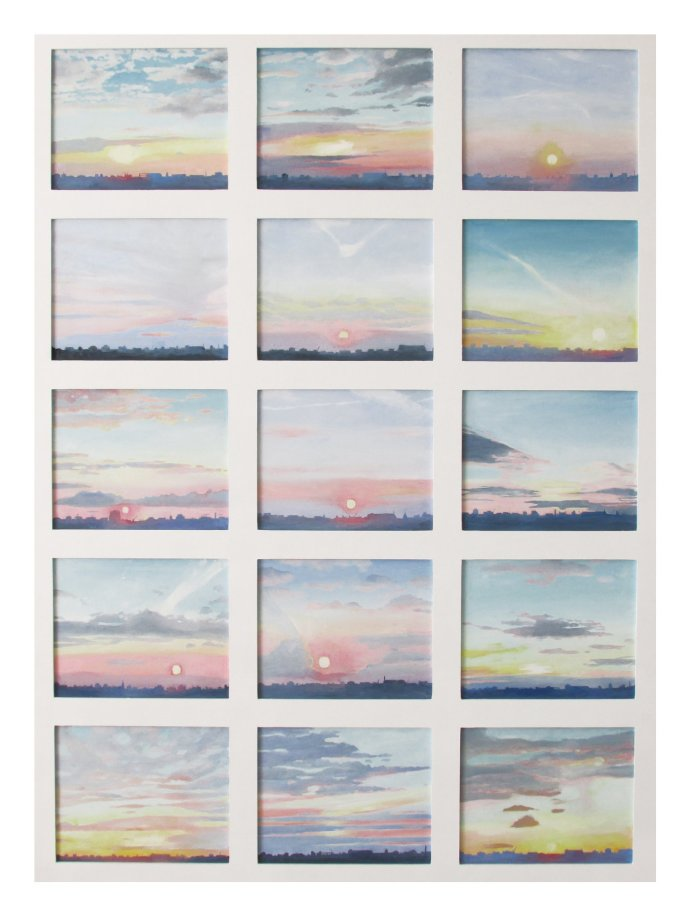 Emma Haworth, A Record of Sunsets in July 2013, 2014