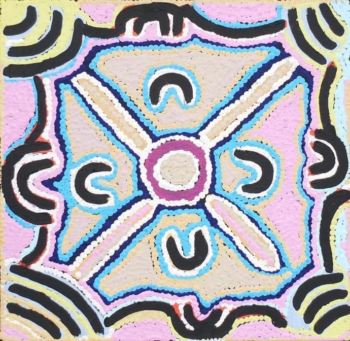 <div class=&#34;artist&#34;><strong>Ivy Napangardi Poulson</strong></div><div class=&#34;title&#34;><em>Pikilyi Jukurrpa (Vaughan Springs Dreaming)</em>, 2013</div><div class=&#34;medium&#34;>synthetic polymer paint on canvas </div><div class=&#34;dimensions&#34;>30 x 30 cm </div>