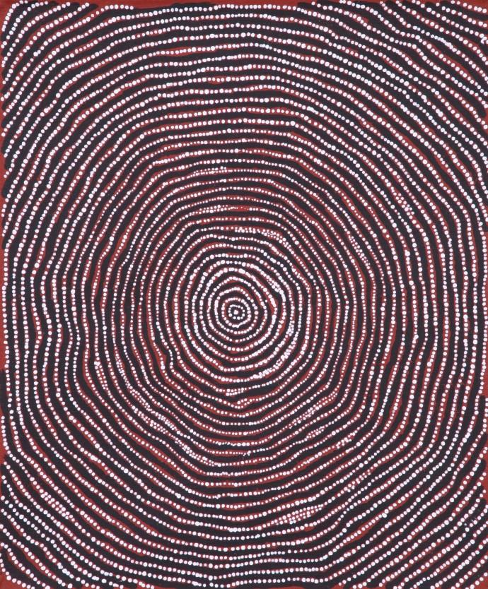 <div class=&#34;artist&#34;><strong>Charlie Tjapangati</strong></div><div class=&#34;title&#34;><em>Manakurranya</em>, 2016</div><div class=&#34;medium&#34;>synthetic polymer paint on Belgian linen</div><div class=&#34;dimensions&#34;>46 x 38 cm</div>