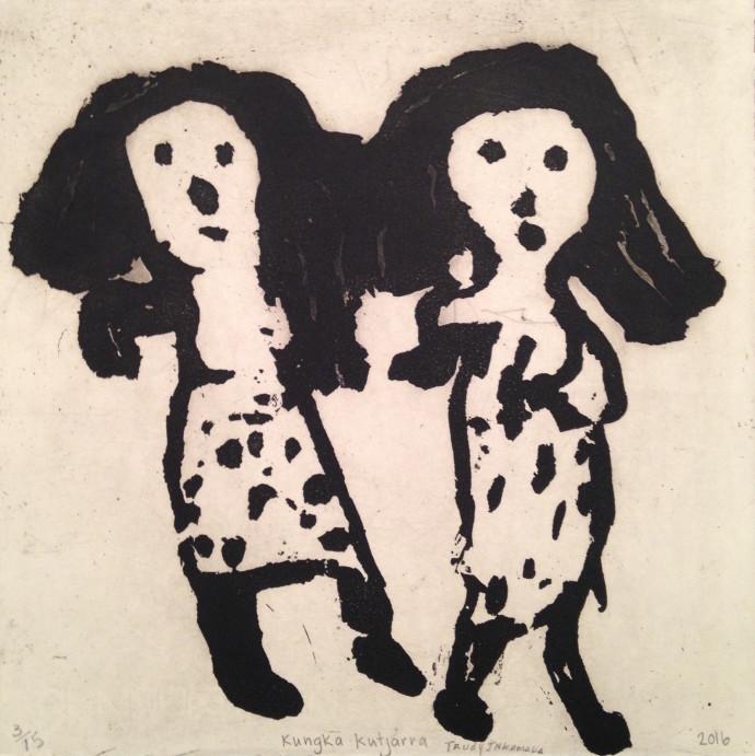 <div class=&#34;artist&#34;><strong>Trudy Inkamala</strong></div><div class=&#34;title&#34;><em>Kungka kutjarra</em>, 2016</div><div class=&#34;medium&#34;>etching</div><div class=&#34;dimensions&#34;>30 x 30 cm<br>11 3/4 x 11 3/4 in</div><div class=&#34;edition_details&#34;>edition 3 of 15</div>