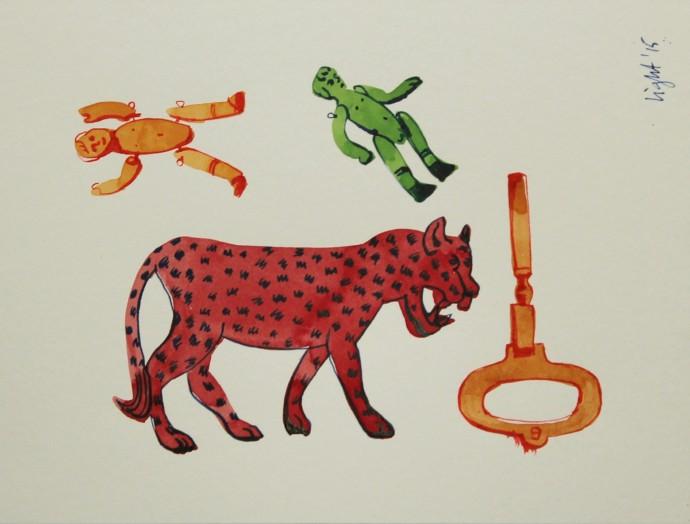 Susan Light, Red Leopard, 2015