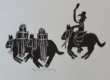 <div class=&#34;artist&#34;><strong>Nancy Mcdinny</strong></div><div class=&#34;title&#34;><em>Pack horse and saddler</em>, 2009</div><div class=&#34;medium&#34;>screenprint</div><div class=&#34;dimensions&#34;>37 x 46 cm</div>