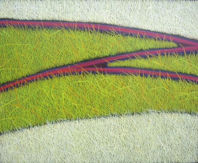 Yvonne Mills-Stanley, Grass Tracks I, 2014