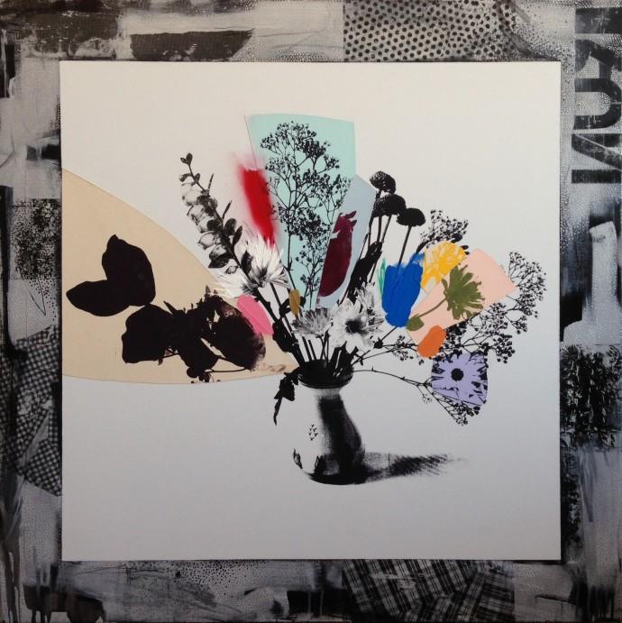 <div class=&#34;artist&#34;><strong>Emily Filler</strong></div><div class=&#34;title&#34;><em>Bouquet (Silver + Rainbow)</em>, 2016</div><div class=&#34;medium&#34;>mixed media</div><div class=&#34;dimensions&#34;>158 x 158 cm<br>62 x 62 in</div>