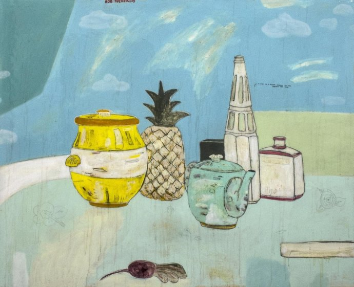 Rob Tucker, A study for a Monday morning still life, pineapple tart style, 2013