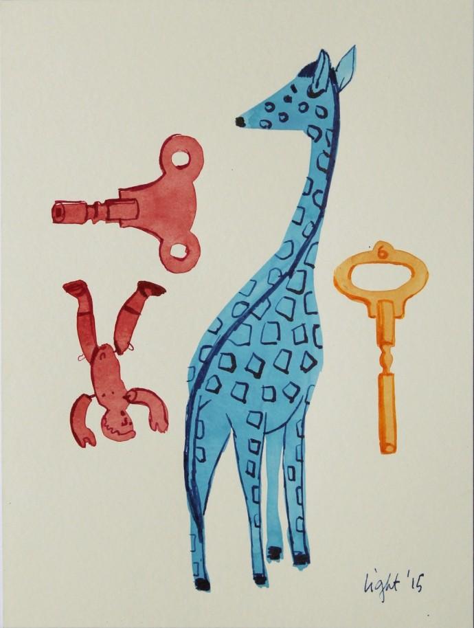 Susan Light, Blue Giraffe, 2015