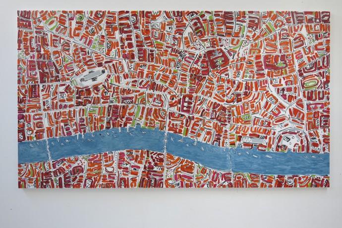 Barbara Macfarlane, Orange London with Green, 2014