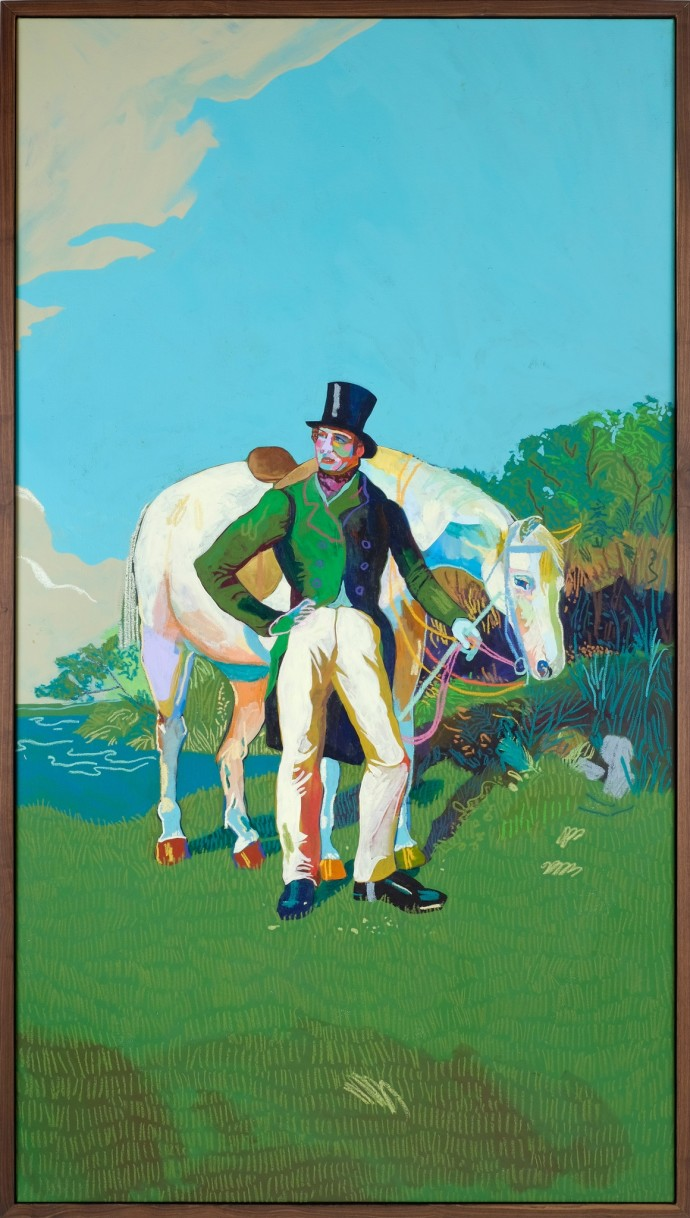 Andy Dixon, Gentleman with Horse, 2014
