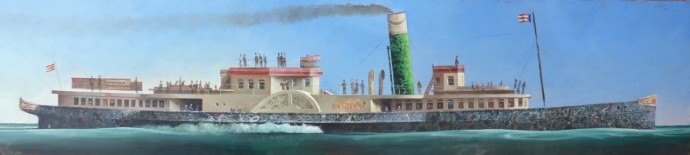 <div class=&#34;artist&#34;><strong>Sylvain Lefebvre</strong></div><div class=&#34;title&#34;><em>'The Virginia' Steam Paddle Boat</em>, 2016</div><div class=&#34;medium&#34;>mixed media</div><div class=&#34;dimensions&#34;>30 x 130 cm<br>11 3/4 x 51 1/8 in</div>