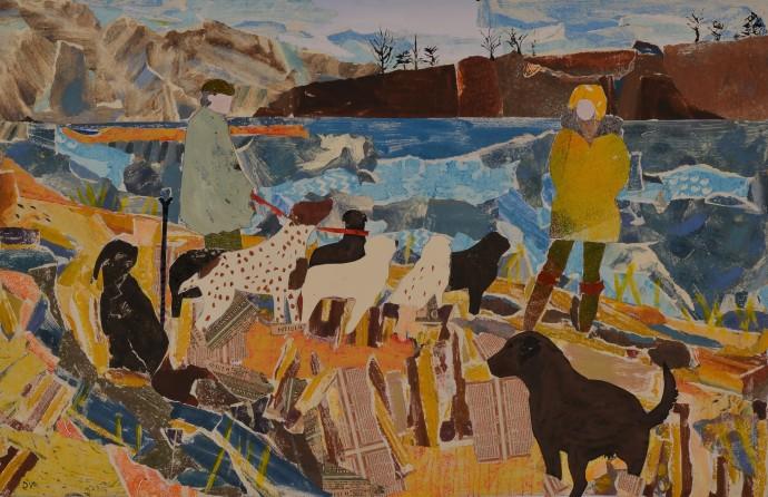 Dione Verulam, Beside the River Tweed in Winter I, 2014