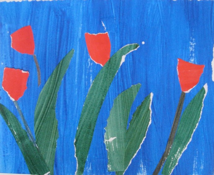 James Farrelly, Four Red Tulips