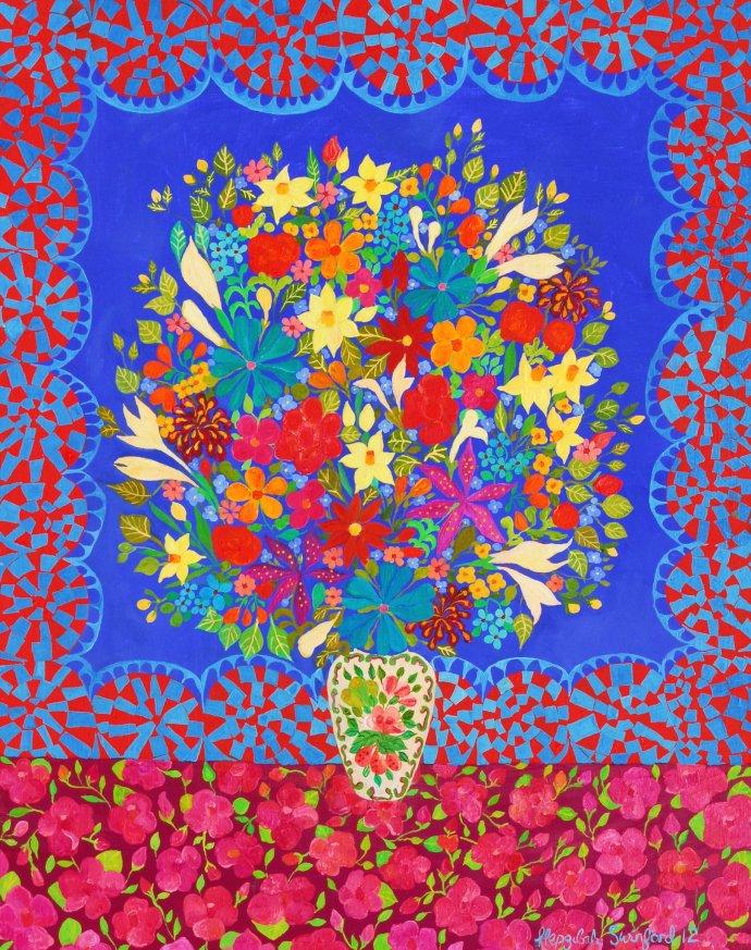 Hepzibah Swinford, Blue Flowers, 2012