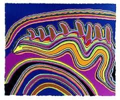 <div class=&#34;artist&#34;><strong>Jimmy Pike</strong></div><div class=&#34;title&#34;><em>Jurtirangu; Kalpurtu watersnakes; Kurntumaru &amp; Parnapa</em></div><div class=&#34;medium&#34;>colour screen print</div><div class=&#34;dimensions&#34;>80 x 96 cm<br>31 1/2 x 37 3/4 in</div>