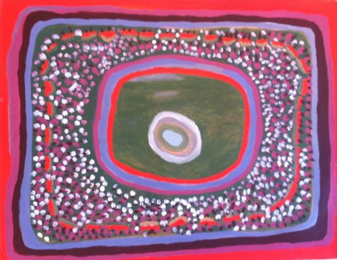 <div class=&#34;artist&#34;><strong>Jukuna Mona Chuguna</strong></div><div class=&#34;title&#34;><em>Kuralkural Jila</em>, 2008</div><div class=&#34;signed_and_dated&#34;>inscribed verso: Mangkaja Arts 307/08</div><div class=&#34;medium&#34;>synthetic polymer paint on canvas</div><div class=&#34;dimensions&#34;>69 x 89 cm<br>27 1/8 x 35 1/8 in</div>
