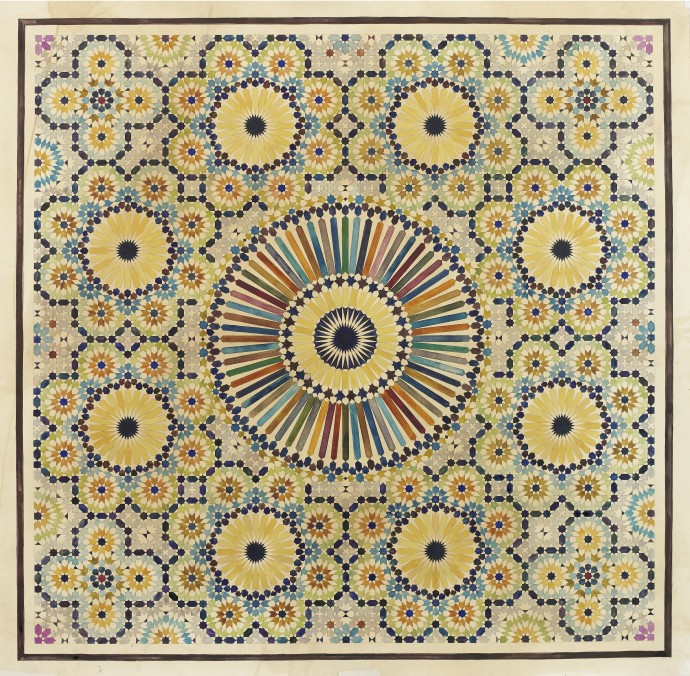 <div class=&#34;artist&#34;><strong>Lucy Temple</strong></div><div class=&#34;title&#34;><em>Golden Rules</em>, 2017</div><div class=&#34;medium&#34;>watercolour on tea stained watercolour paper</div><div class=&#34;dimensions&#34;>100 x 100 cm (unframed)<br>39 3/8 x 39 3/8 in</div>