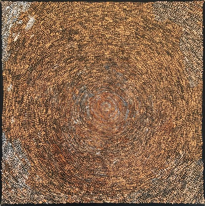 <div class=&#34;artist&#34;><strong>Sarah Napurrurla Leo</strong></div><div class=&#34;title&#34;><em>Puyurru</em>, 2017</div><div class=&#34;medium&#34;>synthetic polymer paint on Belgian linen</div><div class=&#34;dimensions&#34;>91 x 91 cm</div>