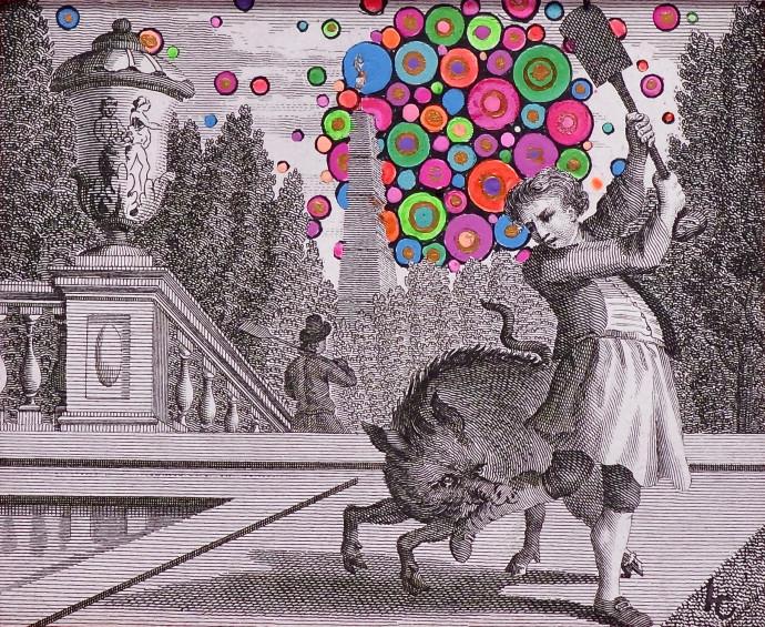<div class=&#34;artist&#34;><strong>Liza Campbell</strong></div><div class=&#34;title&#34;><em>The Drawbacks of Factory-Farming Spirit Animals</em>, 2017</div><div class=&#34;medium&#34;>ink, gouache and acrylic on engraved paper</div><div class=&#34;dimensions&#34;>34.8 x 40 cm<br>13 3/4 x 15 3/4 in</div>
