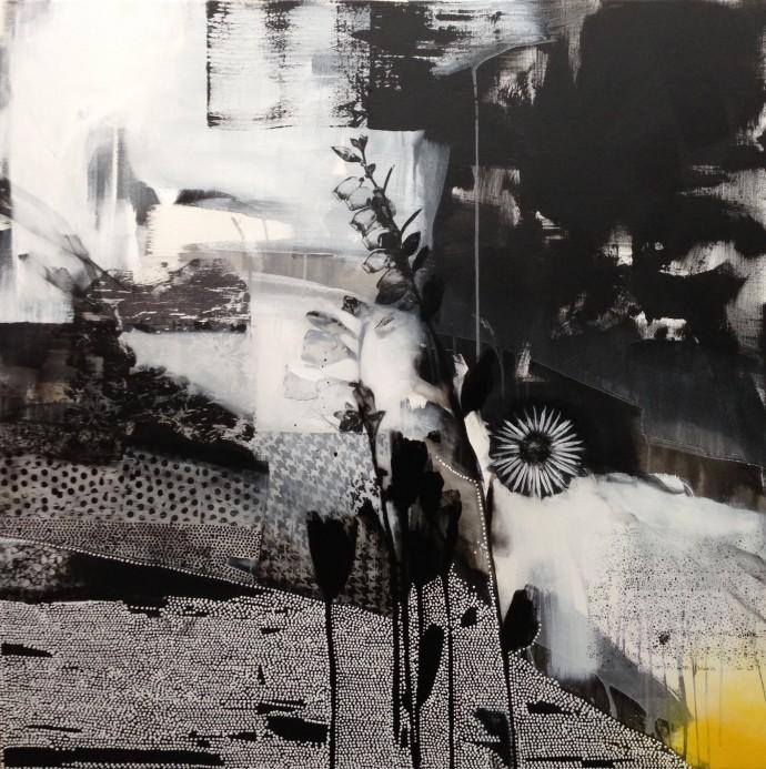 Emily Filler, Dreamscape ( Black + White + Yellow), 2015