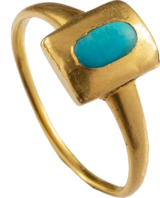 Renaissance Ring with Turquoise Cabochon
