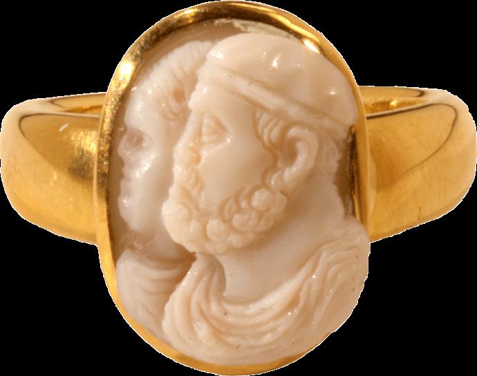 Renaissance Marriage Portrait Cameo Ring