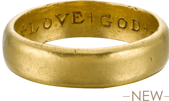 "Posy Ring ""Love God Onle weth Fathe"""