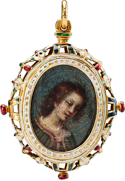 Pendant with The Annunciation miniatures by Valerio Marucelli (1563-1626)
