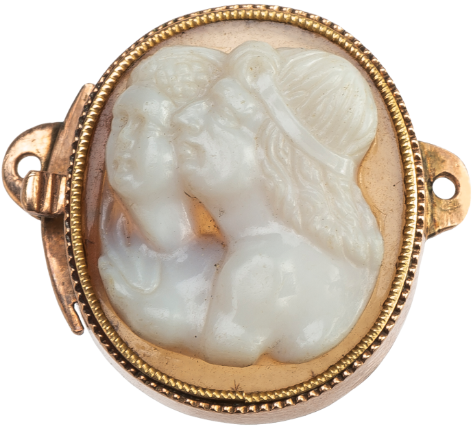 Cameo with Double Portrait in Clasp Mount