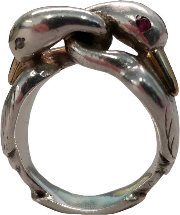 Mosheh Oved Ring with Two Swans Embracing