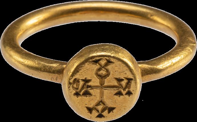 Byzantine Ring with Cruciform Monogram